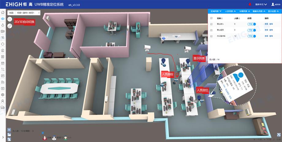 UWB定位软件功能之实时位置显示
