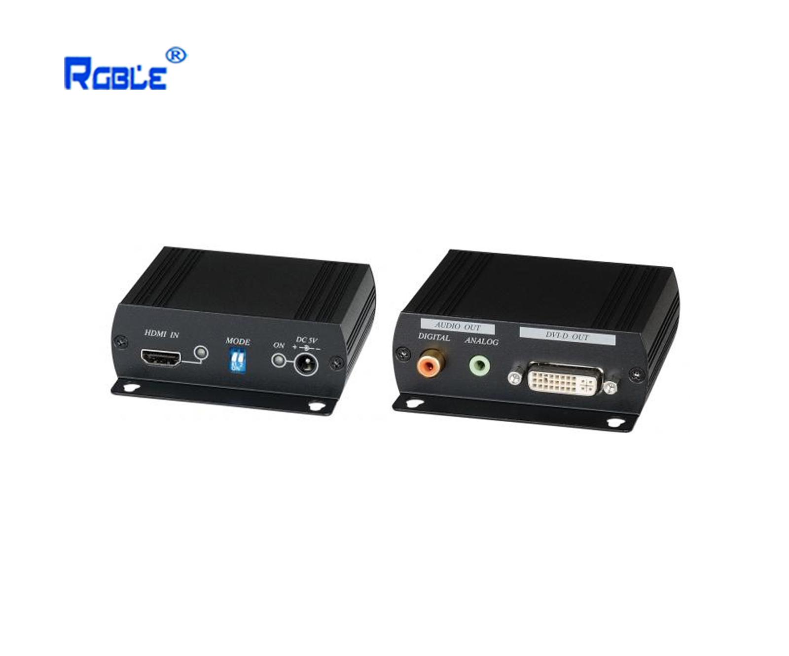 HDMI转DVI图像+声音转换器