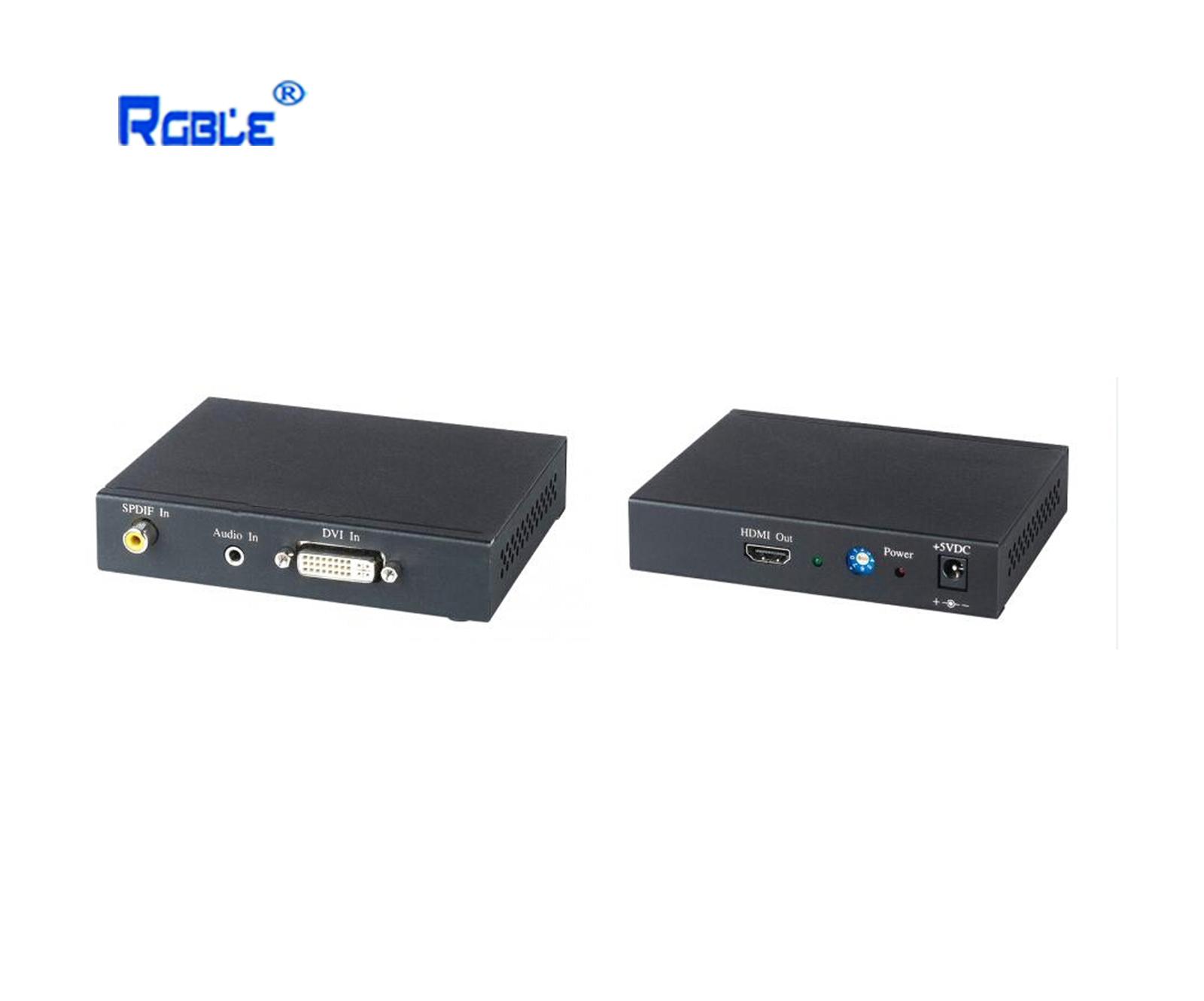 DVI图像+声音转HDMI转换器