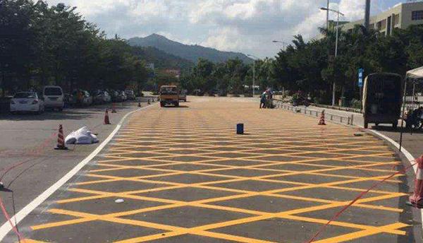 杭州道路划线