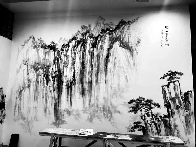 火锅店墙体彩绘