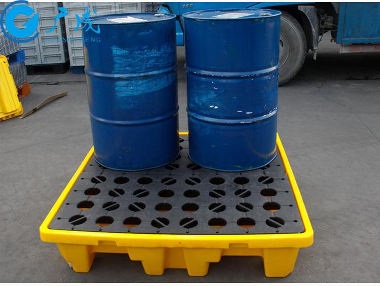 四桶装防渗漏塑料托盘应用场景