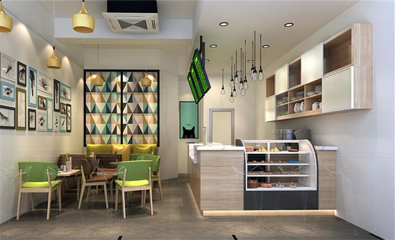 yuntea奶茶店装修设计