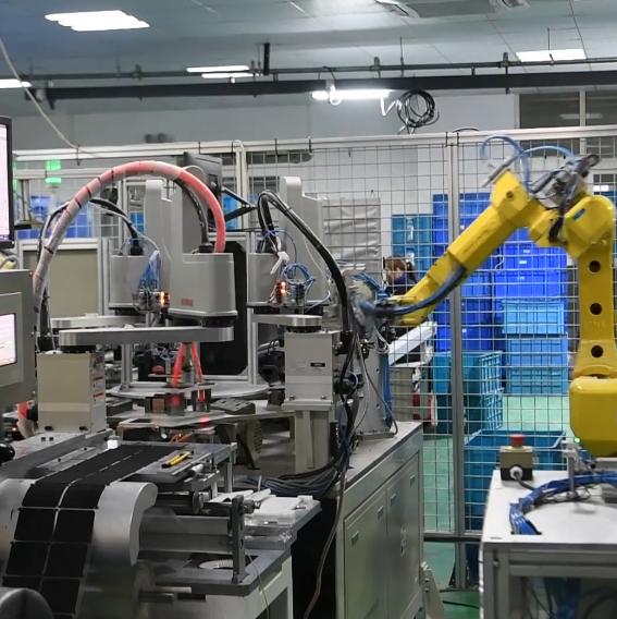 空调配件多机器人混合装配