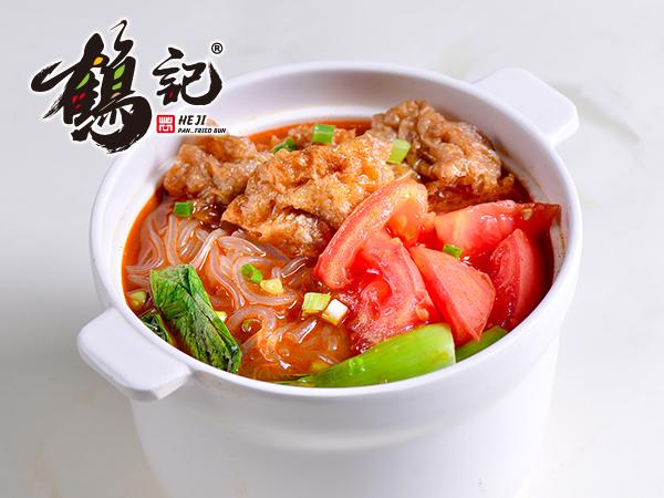 番茄油面筋粉丝汤
