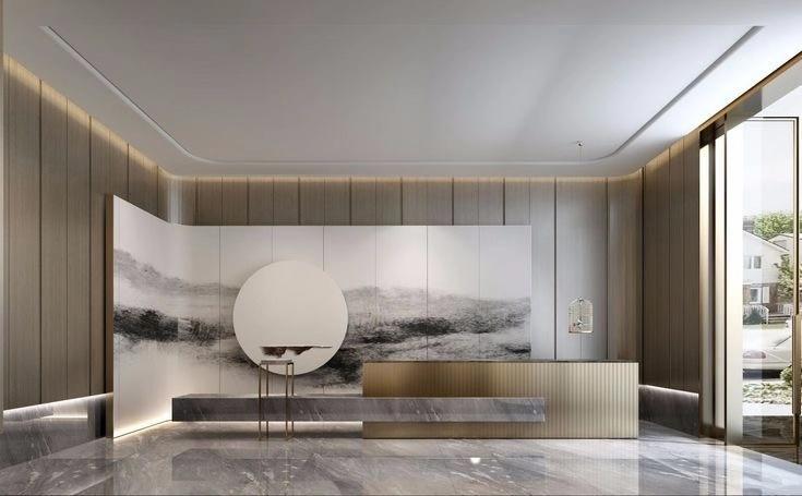 时尚新中式办公室设计