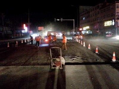 205国道路面抢修