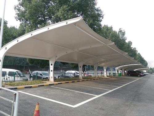 武汉室外膜结构停车棚完工验收图