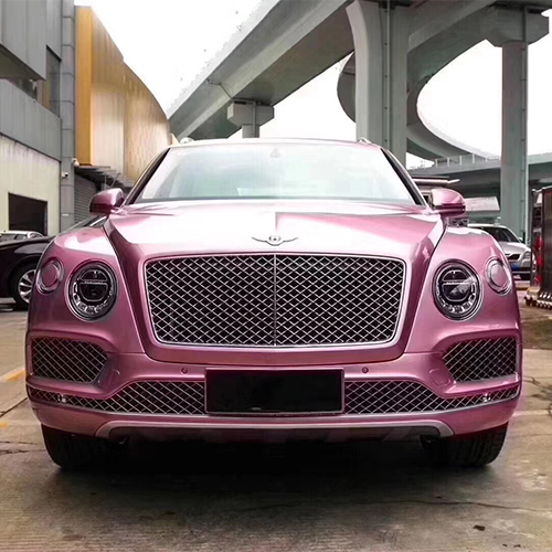 宾利 添越 V8 4.0T 粉色 20款 激情粉 木兰花白深厘紫