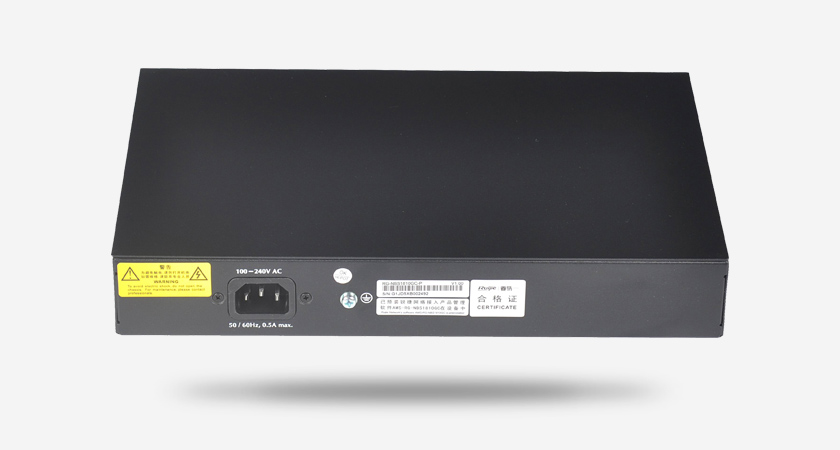 RG-NBS1810GC-P监控安防专用交换机