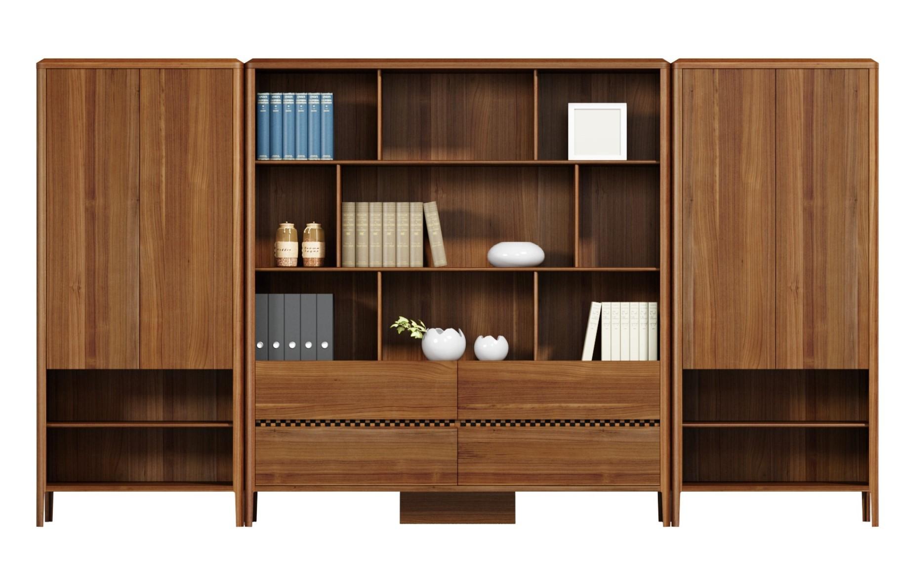 莱茵系列纯实木文件柜