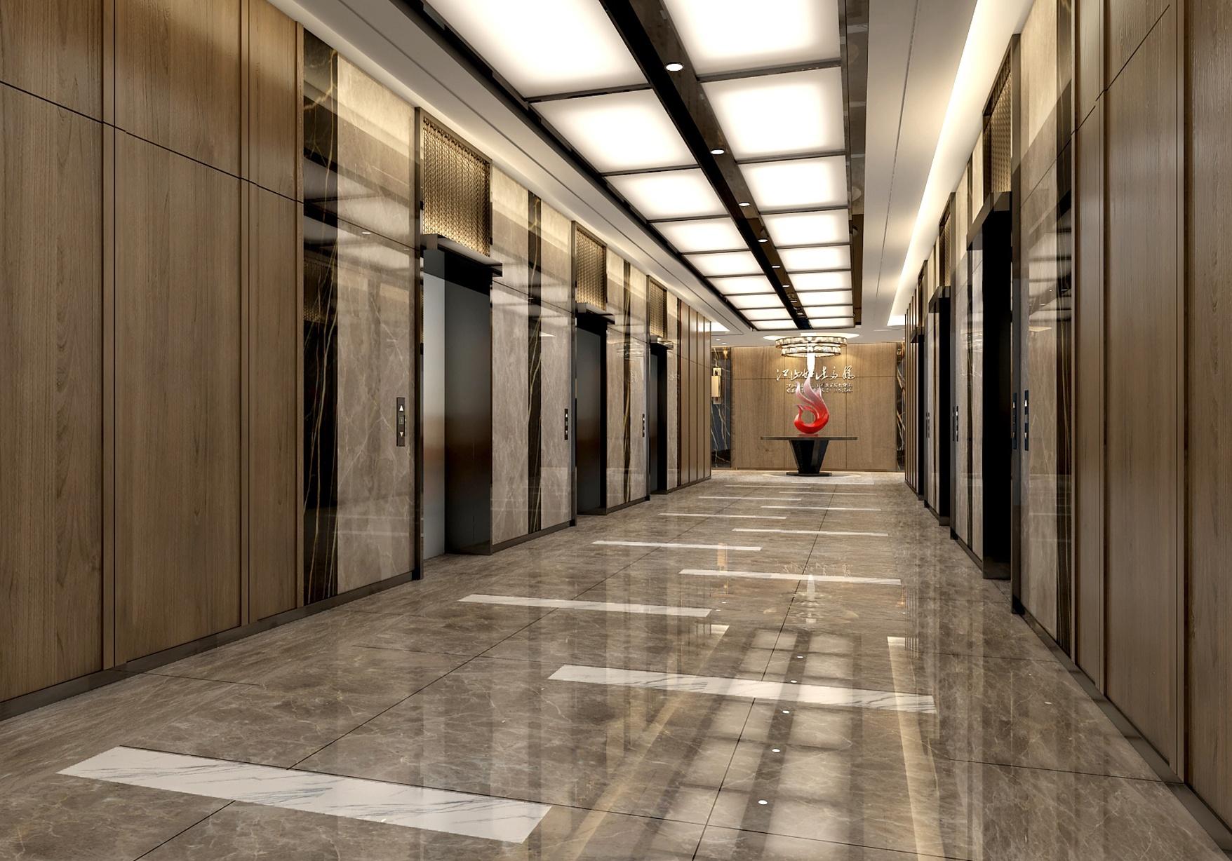 电梯厅走廊