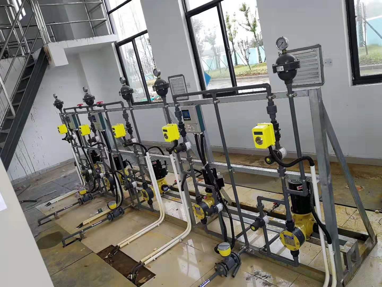 顿力达计量泵用于化工厂、污水处理厂、养殖厂和食品厂加药系统