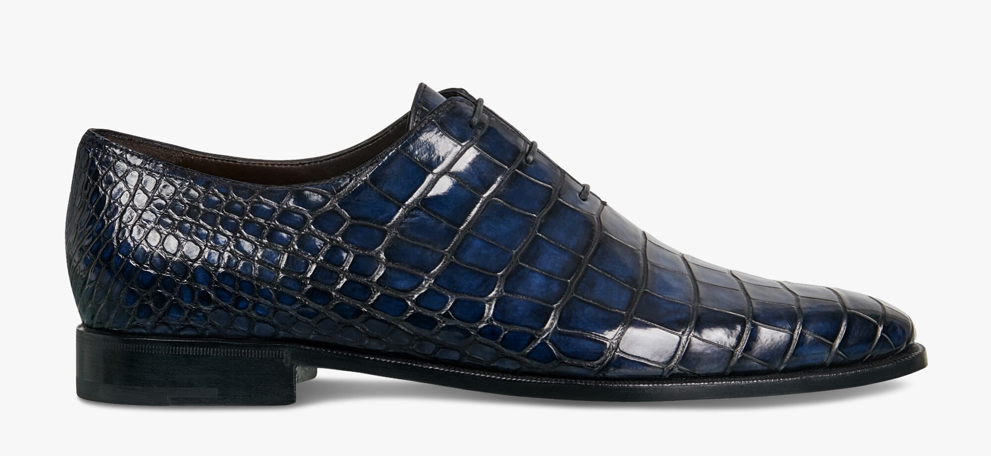 鳄鱼皮牛津鞋