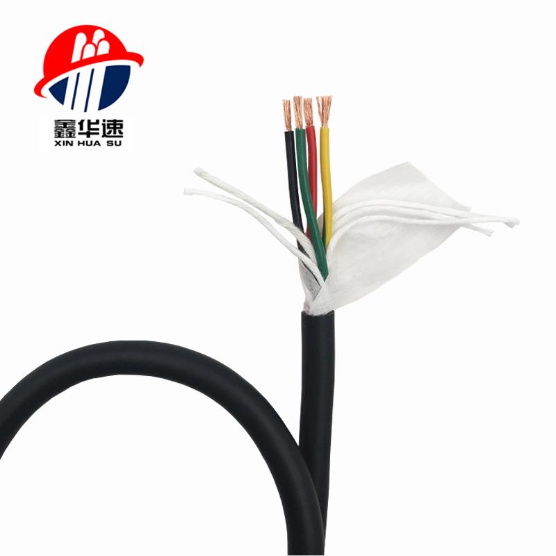 TRVV 高柔耐折拖链电缆(1500万次黑色护套)
