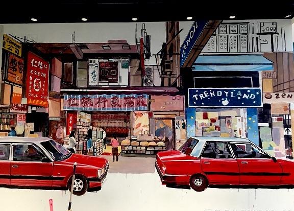 持凡手绘墙带您了解商场彩绘的元素选取及应用