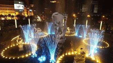 音乐喷泉里的灯光有哪些独到之处呢?