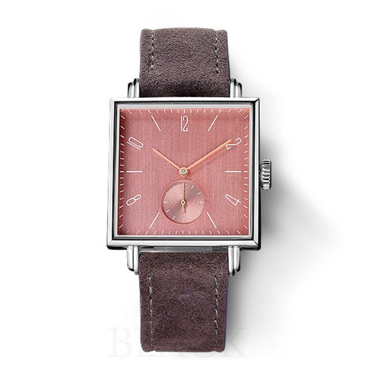 正方形情侣石英手表