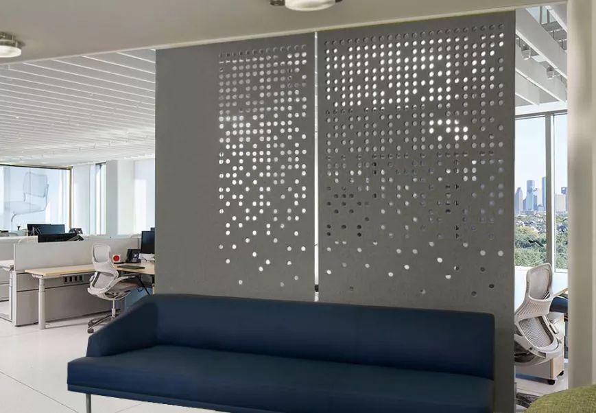 雕刻隔断在现代办公空间中的应用!