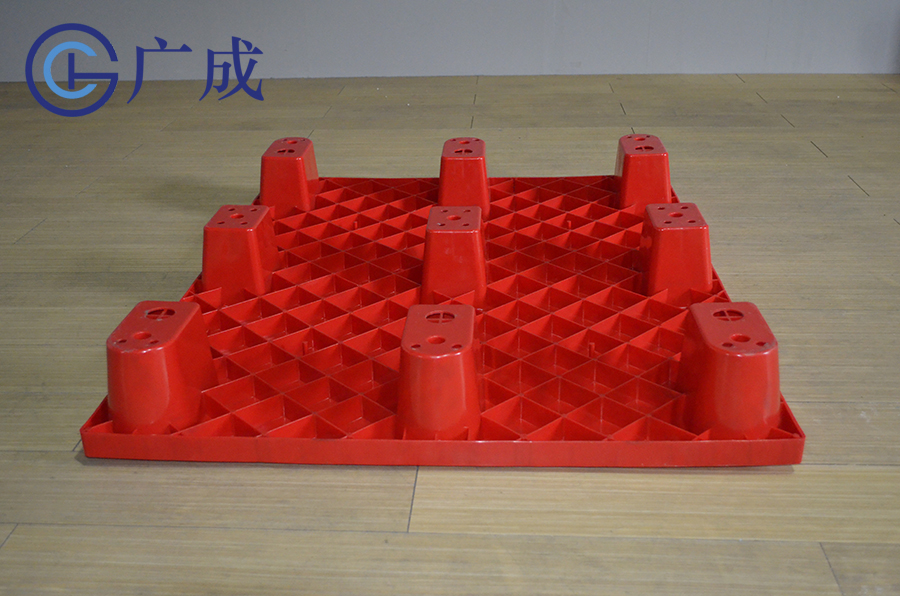 1109平板九腳塑料托盤印刷區域反面