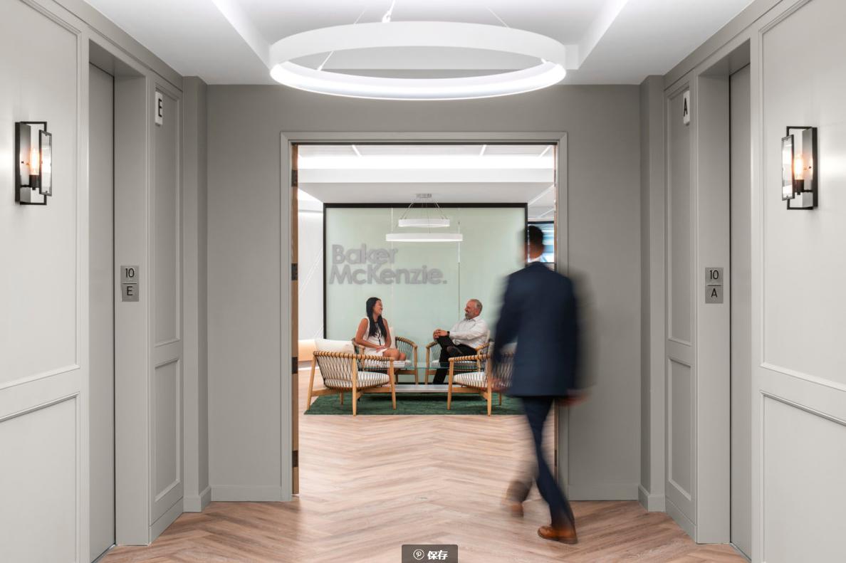 美式办公走廊设计