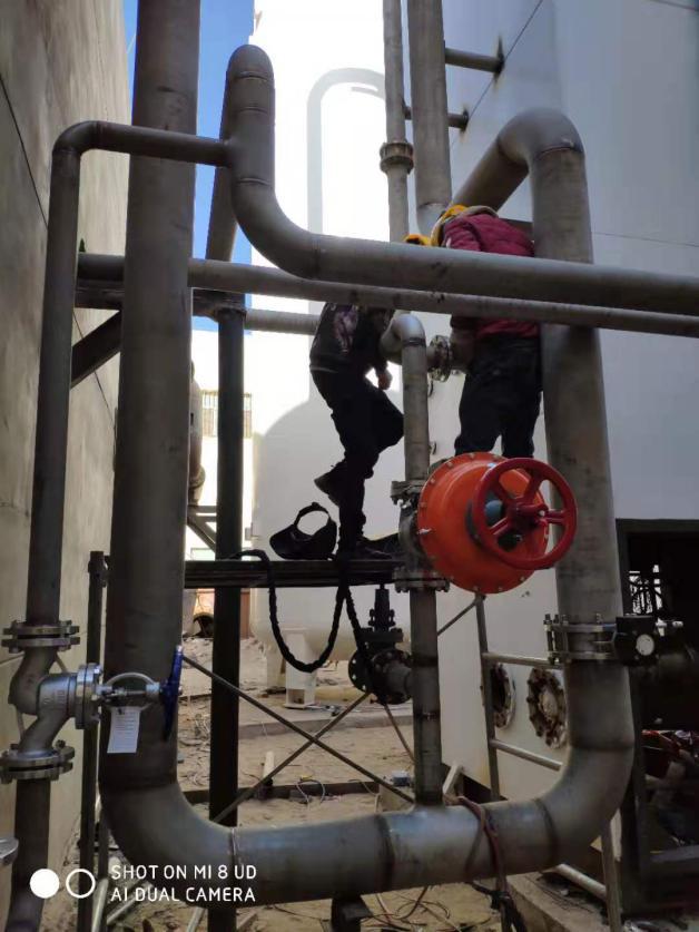 2019年12月内蒙某光伏企业3000深冷高氮安装进行中