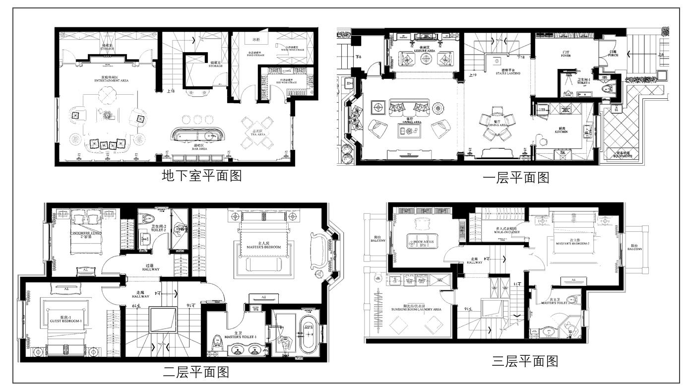 松江别墅设计平面图
