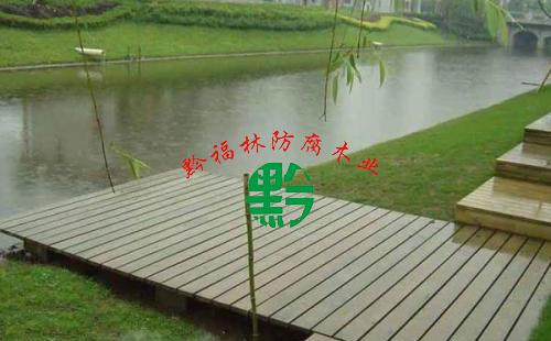 贵阳防腐木亲水平台