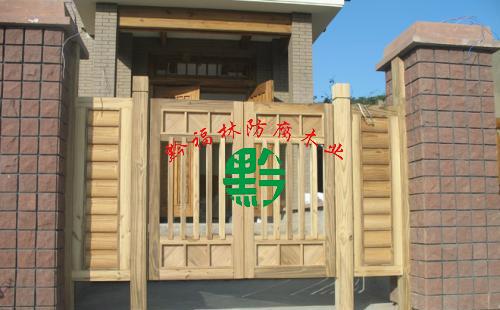 贵州防腐木木门