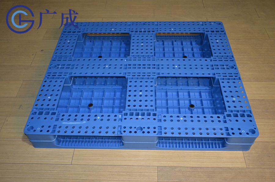 1210平板田字塑料托盤反面