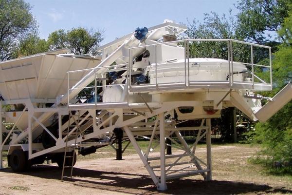 YHZS60移动混凝土搅拌站