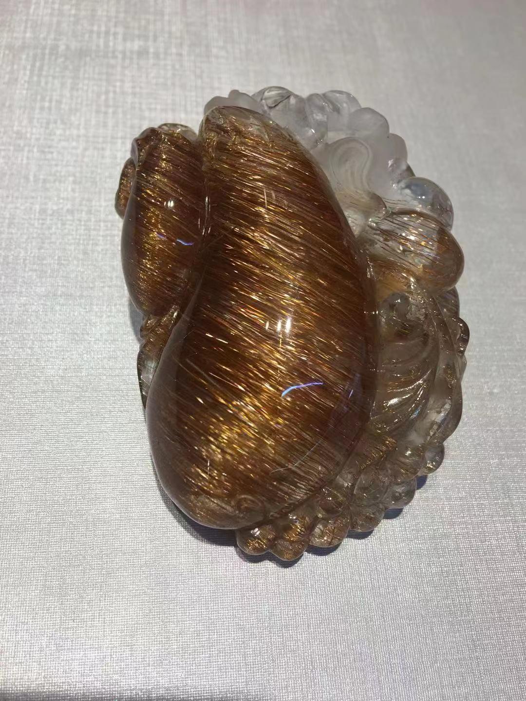 铜发晶雕福瓜