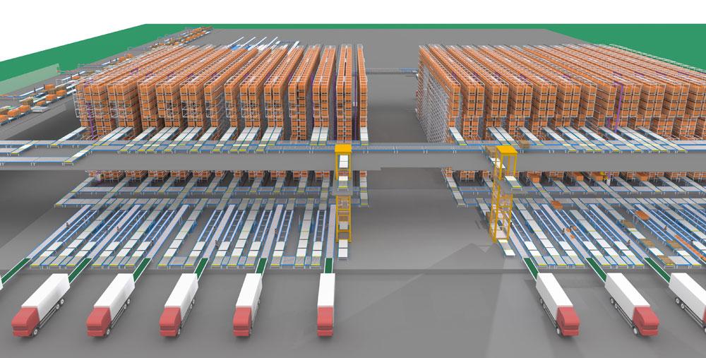 维尚家具五分厂自动仓储系统