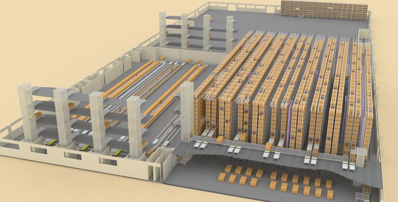 维尚家具四分厂自动仓储系统