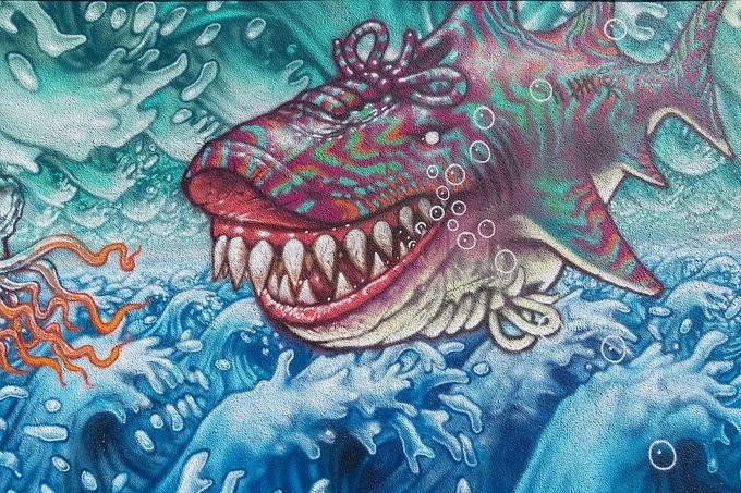 海洋馆墙体彩绘