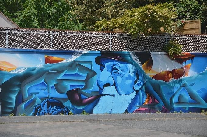 外墙墙体彩绘
