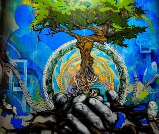 园林墙体彩绘