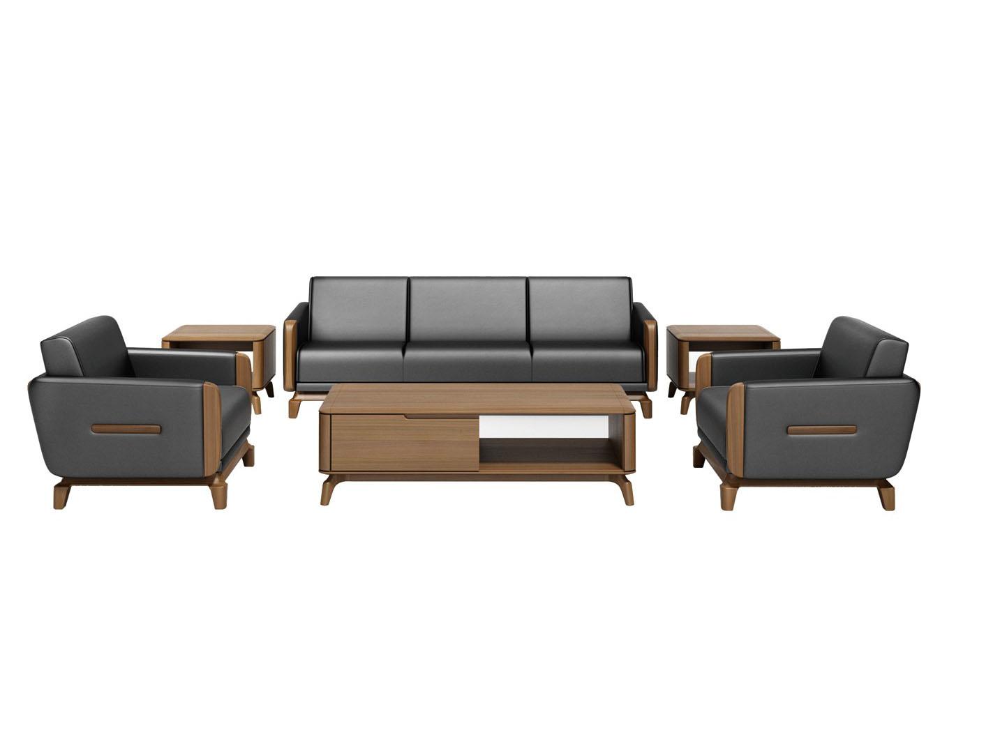 北欧系列纯实木沙发组合