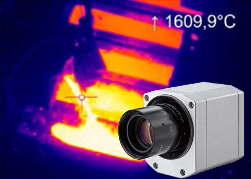 测量温度可达1800°C的红外热像仪