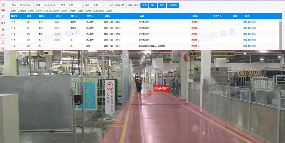 工廠人員定位之電子圍欄