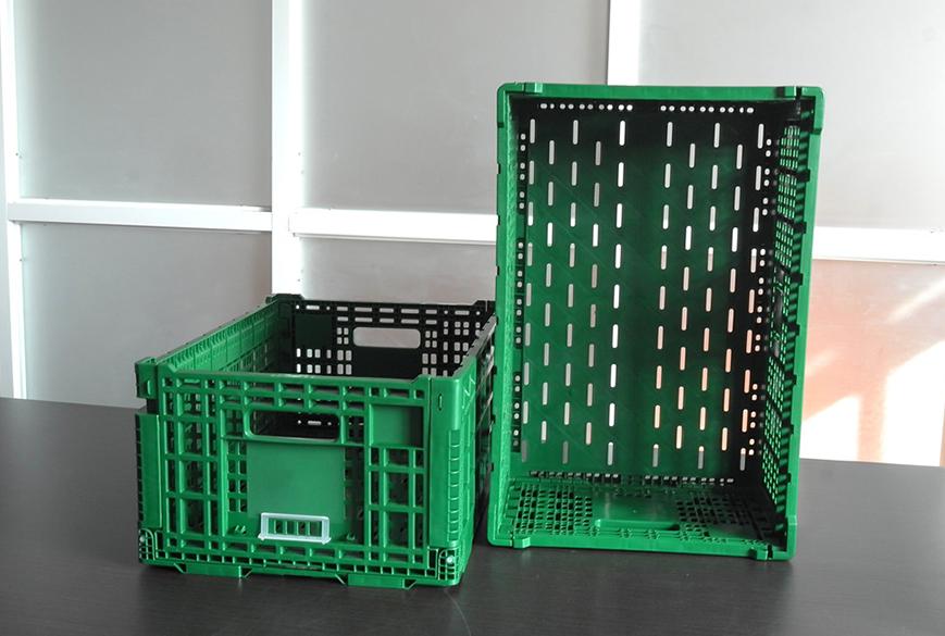 604026折叠式物流筐细节图