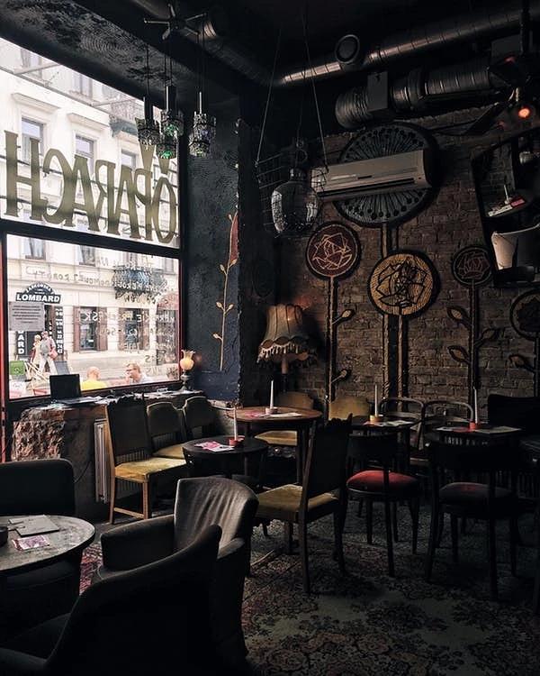 咖啡厅墙体彩绘
