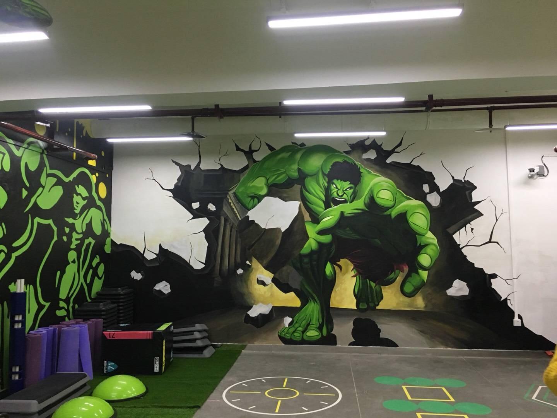 健身馆墙体彩绘