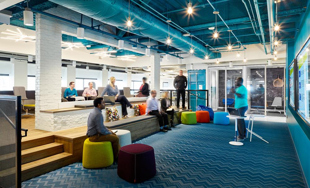 办公室设计之蓝色色彩分析!