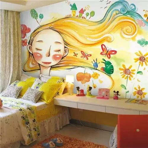 卧室手绘墙设计细节