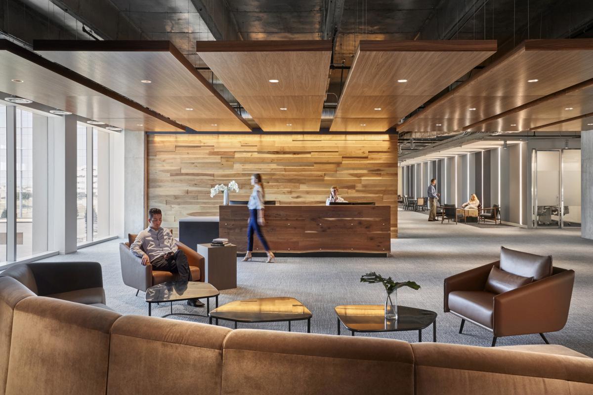 简约办公空间前厅设计