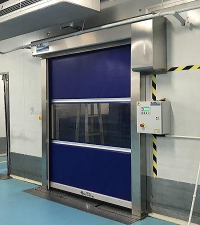Soft curtain high speed doors