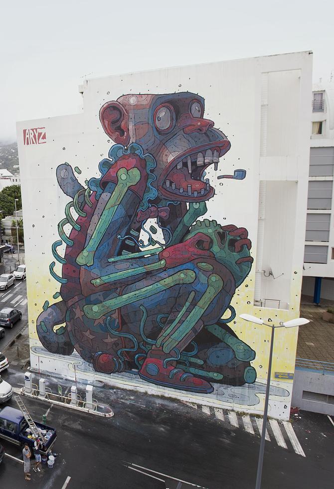 外墙彩绘施工