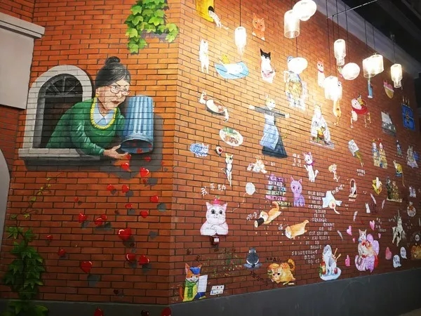合肥商业广场彩绘