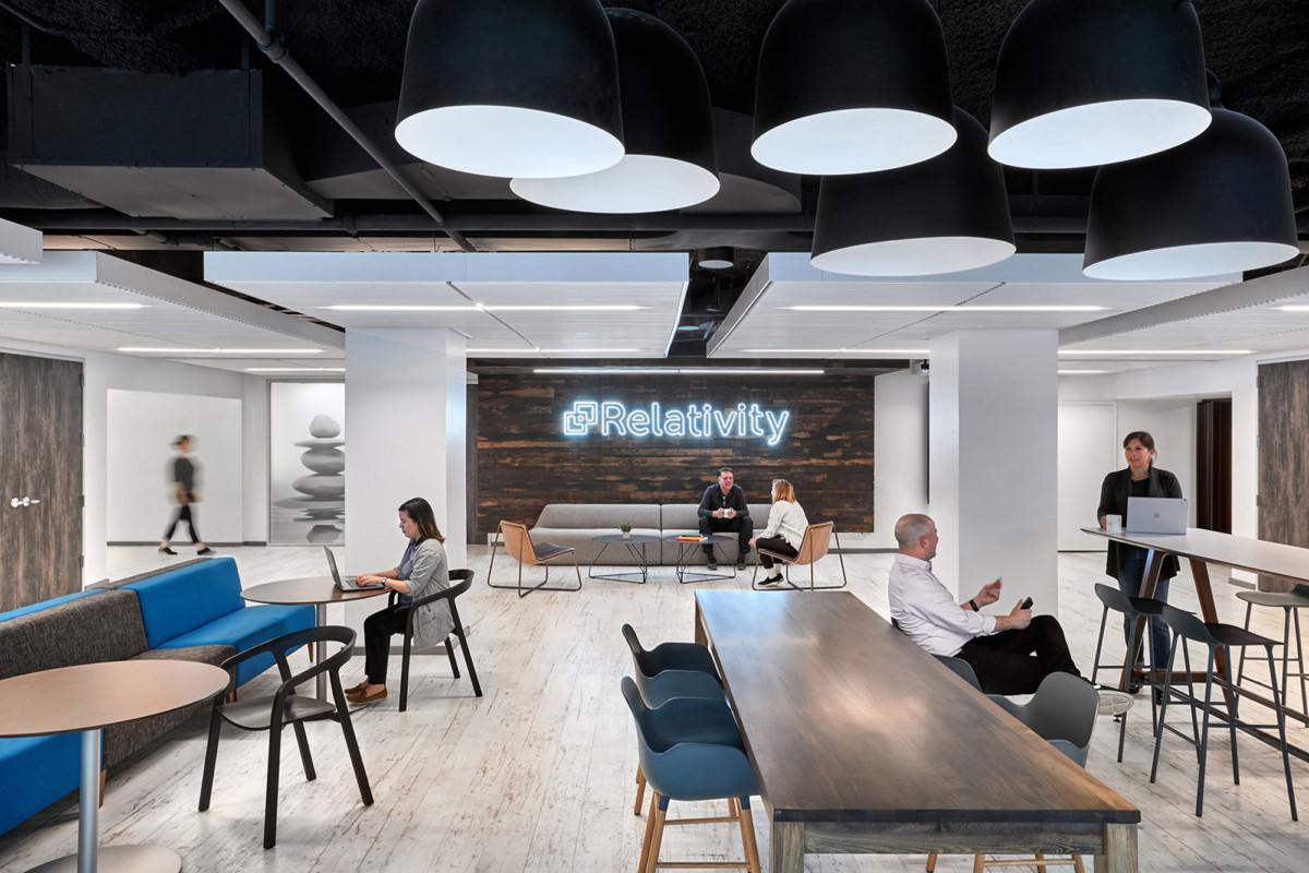 【现代简约】开放式办公空间设计
